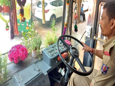Green drive in a BMTC bus