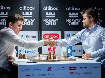 Chess: Polish star Jan-Kzrystof Duda ends Magnus Carlsen's 125-game unbeaten streak