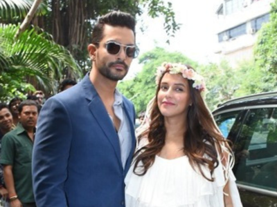 Photos: Angad Bedi hosts actress wife Neha Dhupia's surprise baby shower at Bandra; B-Town celebrates with mom-to-be