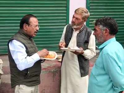 Watch: Ajit Doval visits Jammu and Kashmir, interacts with locals over lunch