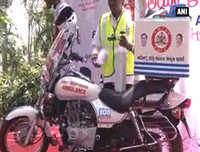 India gets first bike ambulance