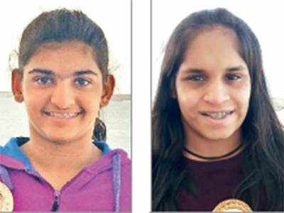 Krisha, Sanjana make city proud