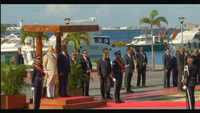 PM Modi receives ceremonial reception at Republic Square in Male