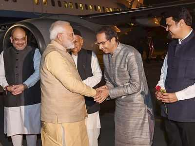 Uddhav Thackeray meets PM Narendra Modi in Pune for the first time after becoming Chief Minister