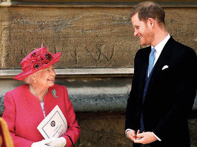 You'll always be welcome back, queen tells Harry