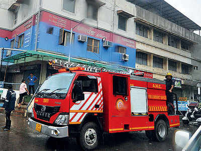 Fire at Thaltej hospital