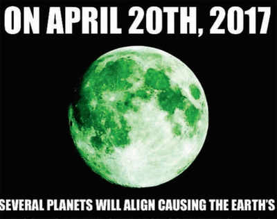 Fake News Buster: Green moon on April 20?