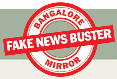 Fake News Buster: Jinnah's photo spotted on a bus in Bengaluru?