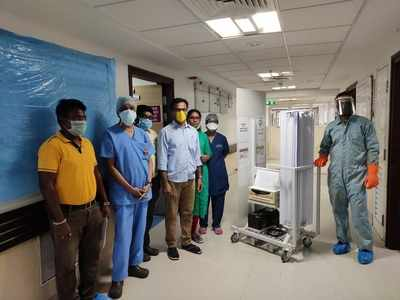 COVID-19: Hyderabad-based company develops UVC-based disinfectant trolley