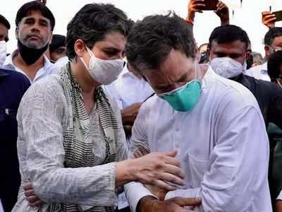 Rahul Gandhi, Priyanka Gandhi Vadra head to Hathras again to meet victim's family