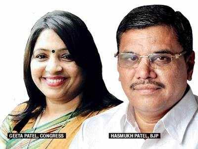 It is Patidar vs Patidar on Ahmedabad (E) seat, Hasmukh Patel fielded against Geeta Patel