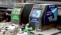 'Smart dustbins' become victim of administration's negligence in Aligarh