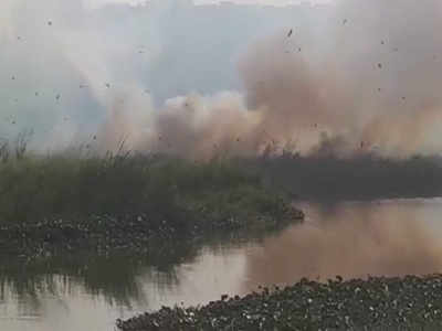 Now Varthur Lake catches on fire