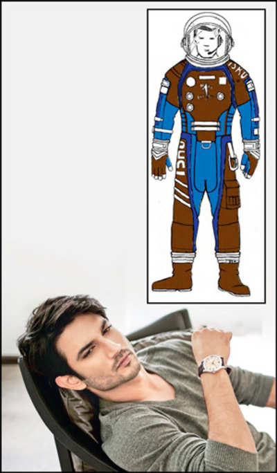 Sushant's prepping to fly off into space