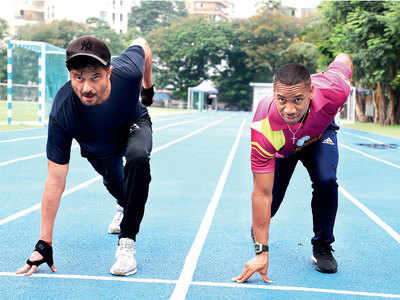 Anil Kapoor finds a fellow fitness freak in Olympian sprinter Yohan Blake