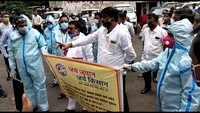 Nagpur: Jai Jawan Jai Kisan activists, 64 suspended security guards protest against non-payment of salaries