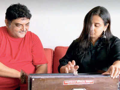 Vidya Balan learns the harmonium for NTR biopic