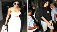 Malaika Arora goes for outing with son, looks fresh as a daisy in white dress