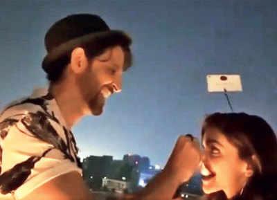 Hrithik Roshan turns candy man for Deepika Padukone