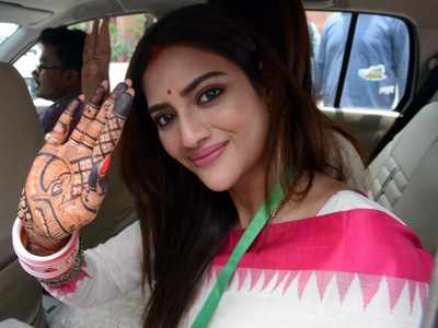 TMC MP Nusrat Jahan to be special guest at ISKCON's Rath Yatra