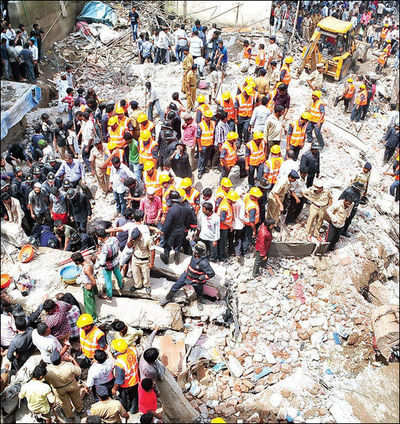 Mumbra building collapse: Two bodies recovered; cops arrest builders