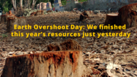 Earth Overshoot Day: We finished this year's resources just yesterday