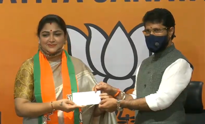 Khushbu Sundar quits Congress, joins BJP