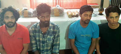 Techie, 3 others held for selling charas, marijuana