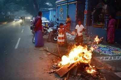 Bhogi celebrations cover Chennai in smoke, flight services affected
