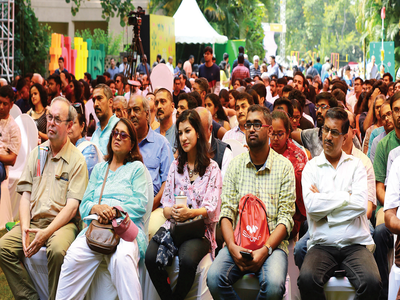 Day one of the Bangalore Literature Festival, the city's landmark literary outing, offered multiple views of the written and spoken word