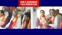 EAM S Jaishankar files nomination papers for Rajya Sabha from Gujarat's Gandhinagar
