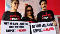 Karan Oberoi, Pooja Bedi and activists participate in the #MenToo movement dharna