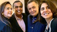 Nita Ambani and Mukesh Ambani visit Rishi and Neetu Kapoor in New York