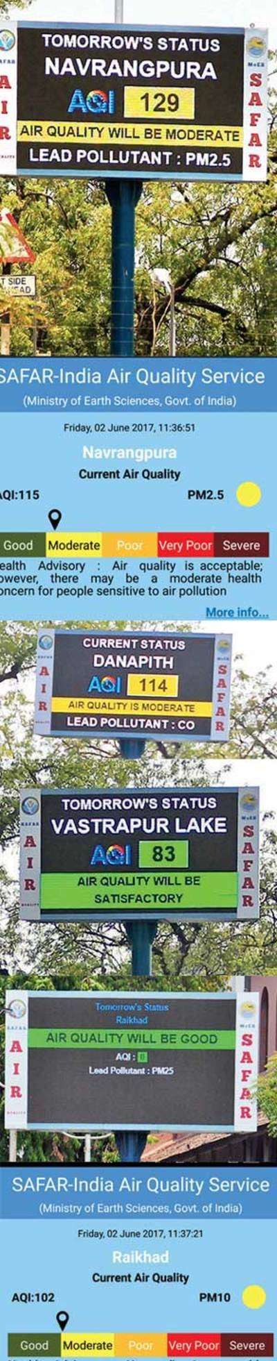 What to believe? Air pollution data on LED screen not in sync with app