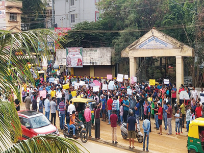 Protests erupt all around Bengaluru