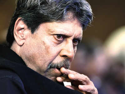 No running out Kapil Dev