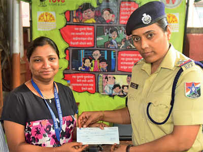 Nari Shakti Puraskar winner, RPF cop Rekha Mishra, donates entire amount of her reward money to NGO Childline