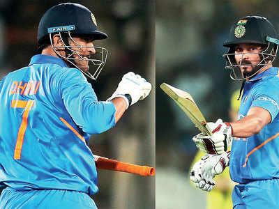 MS Dhoni, Kedar Jadhav craft India's six-wicket win over Aussies in 1st ODI
