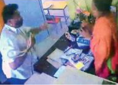 BJP worker on the run after video of the assault in Rajanakunte school goes viral