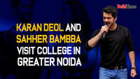 Karan Deol and Sahher Bambba visit a college in Greater Noida