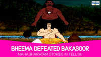 Kids Stories | Nursery Rhymes & Baby Songs - 'Bheema Defeated Bakasoor - Mahabharatam' - Kids Nursery Story In Telugu