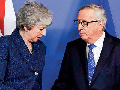 50 days ahead of Brexit, May, Euro leaders spar
