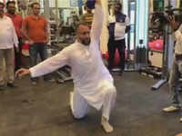 Watch: Asaduddin Owaisi hits the gym after a day of hectic campaigning