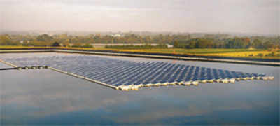 French company in race to power floating solar plant