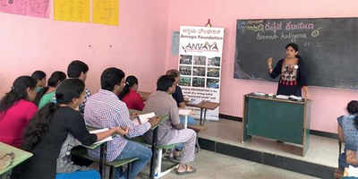 Teaching Kannada is their passion, service