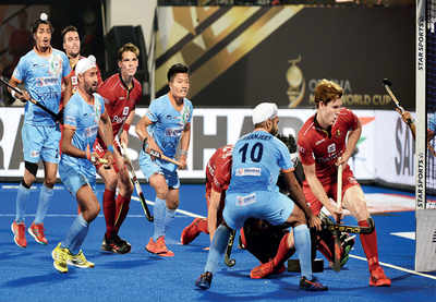 Men's Hockey World Cup: India virtually book last-eight spot after draw against Belgium