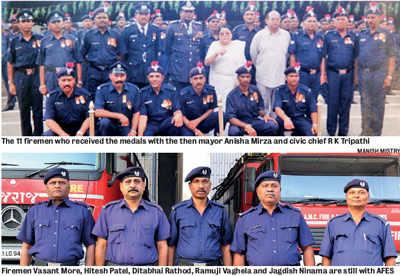 AMC's 11 firemen await Gallantry Medal allowance since 2002