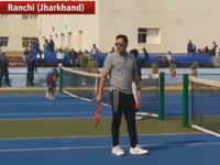 Watch: Former cricket captain MS Dhoni spotted playing tennis