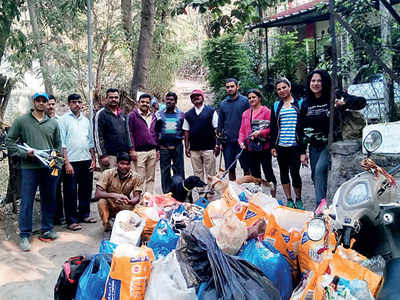 Citizens' clean-ups on Mhatoba tekdi inspire forest dept