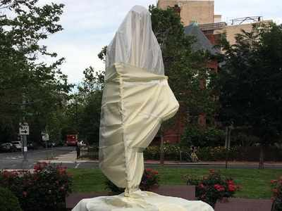 Mahatma Gandhi statue outside Indian Embassy in Washington desecrated